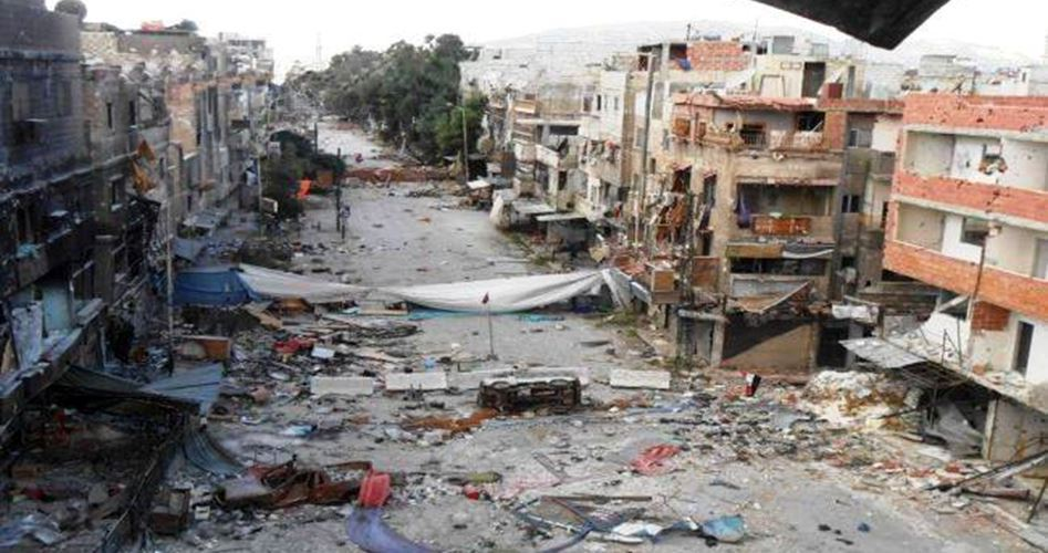 Palestinian refugee camp destroyed in Syria