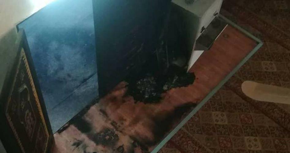 Israeli settlers burn Mosque in Nablus
