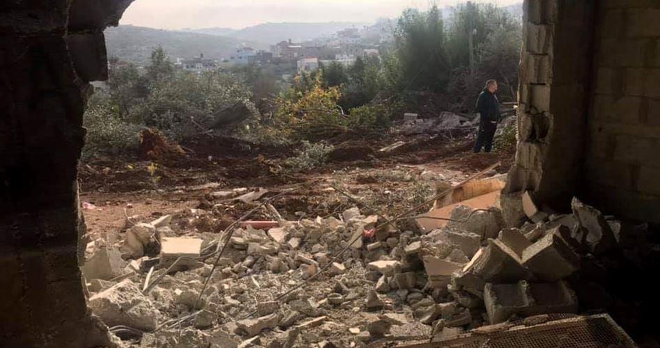 IOF demolishes Palestinian injured teenager's family house
